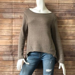 Moth by Anthropologie brown high/low sweater
